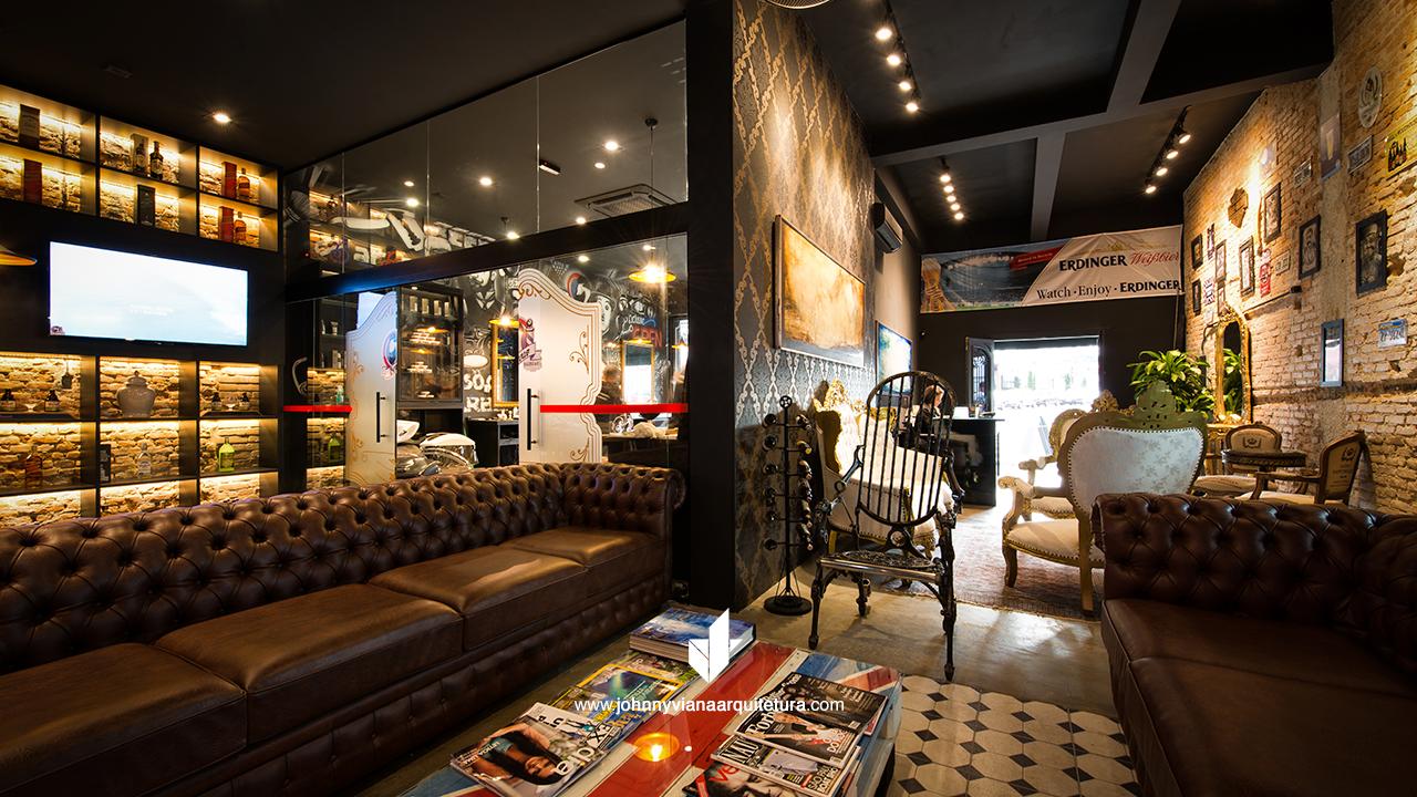 Projetos de arquitetura e design de interiores para barbearias, bares, restaurantes e lanchonetes - Johnny Viana Arquitetura
