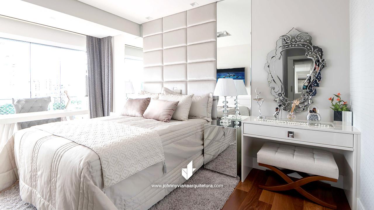 Penteadeira - Quarto de casal decorado | Johnny Viana Arquitetura e Interiores