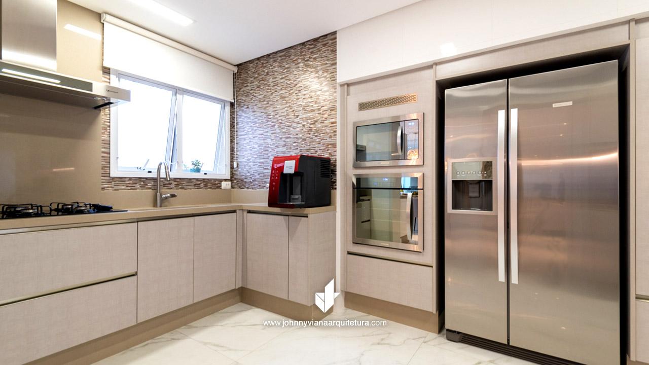 Cozinha planejada minimalista de alto padrão | Johnny Viana Arquitetura e Interiores