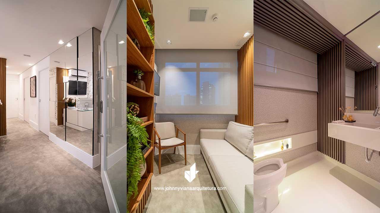 Projeto de de design de interiores para para clínica médica | Johnny Viana Arquitetura e Interiores