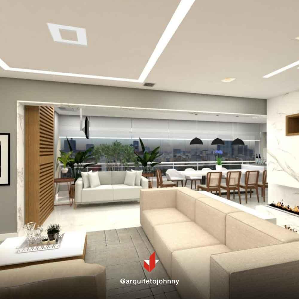 Projeto 3D Apartamento Condomínio Central Park Tatuapé | Johnny Viana Arquitetura e Interiores