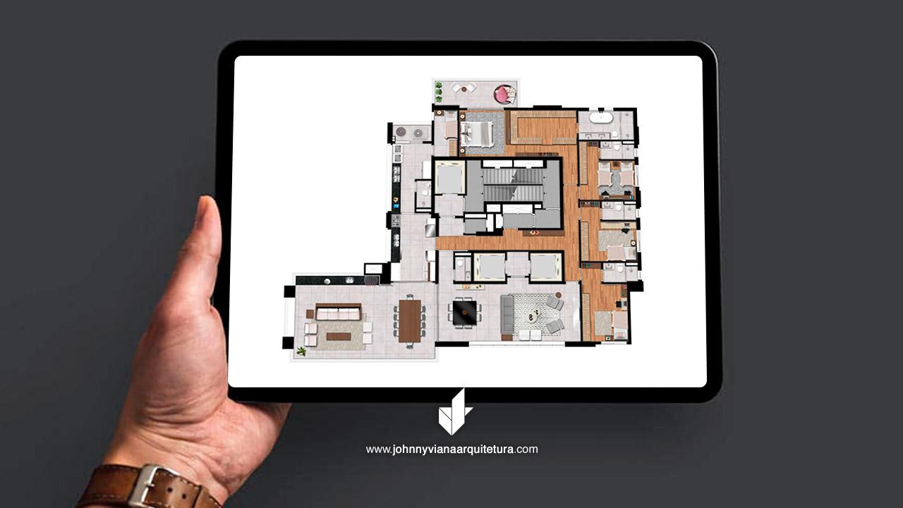 Projeto de Arquitetura Apartamento Condomínio Residencial Figueira Altos do Tatuapé by Porte   Johnny Viana Arquitetura e Interiores