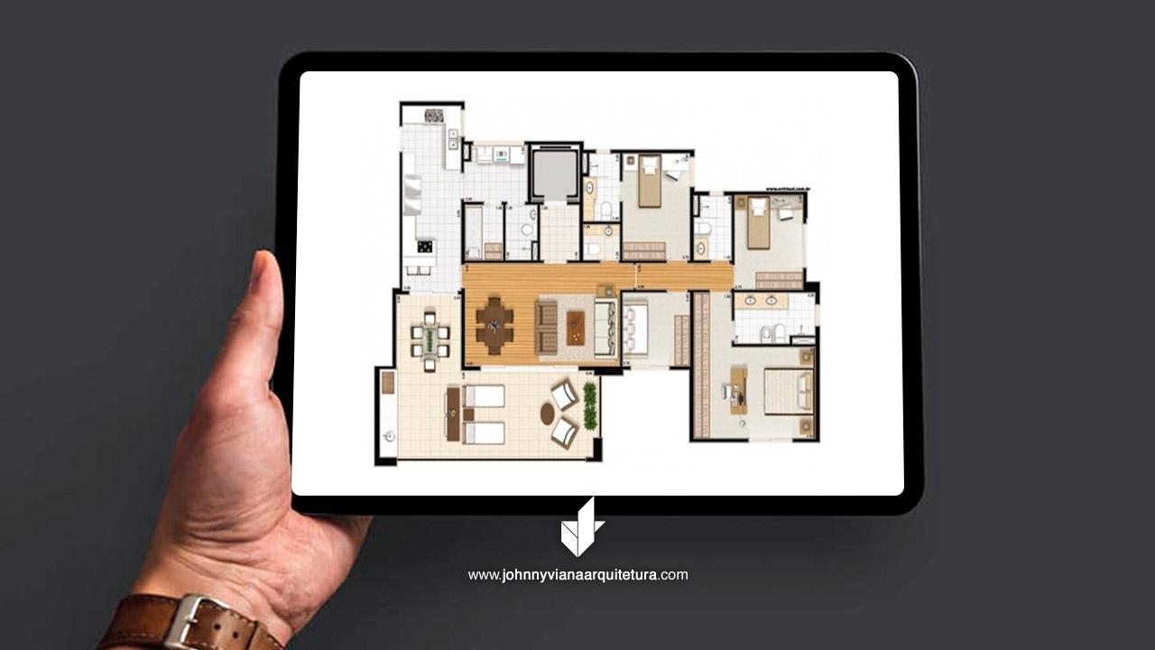 Projeto de Arquitetura Apartamento Condomínio Residencial Central Park Prime | Johnny Viana Arquitetura e Interiores